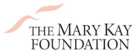 The Mary Kay Foundation logo with pink swoop shapes to the upper left corner of the organization name.