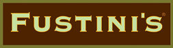 Fustini's logo, which is the company name in green inside a brown box with a green border.