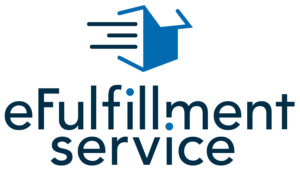 eFulfillment Service logo with a blue box icon at the top.